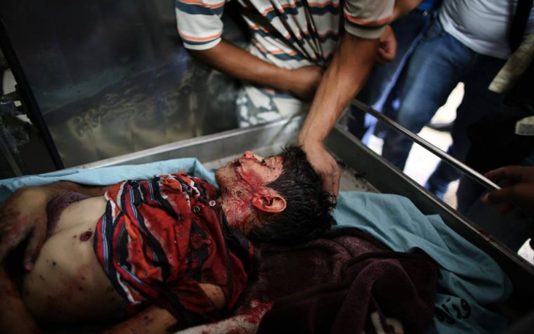 Il massacro di Gaza, foto e video shock